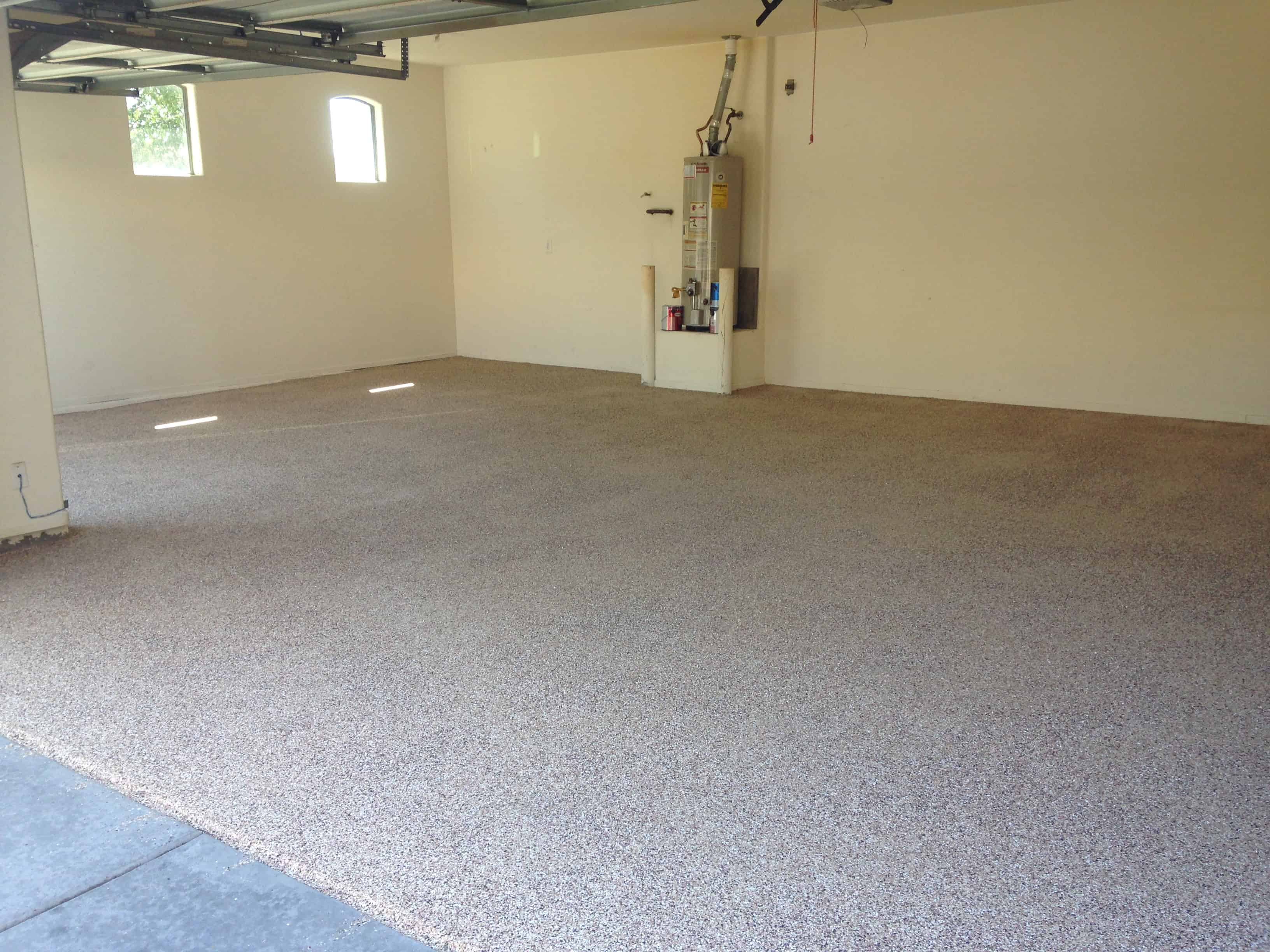 Best garage epoxy coating carefree stone 602 867 0867 for Garage floor maintenance